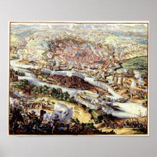 The Turkish Siege of Vienna 1863 Poster
