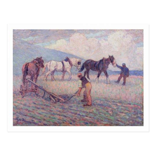 The Turn-Rice Plough, c.1909 (oil on canvas) Postcard