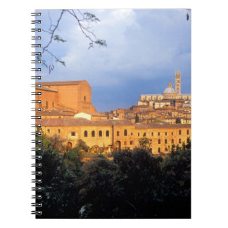 The Tuscan village of Sienna, Italy. Note Books