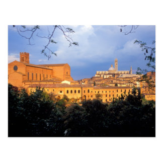 The Tuscan village of Sienna, Italy. Postcard