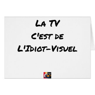 The TV, It IS IDIOT-VISUEL - Word games Card