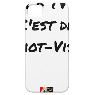 The TV, It IS IDIOT-VISUEL - Word games iPhone 5 Case