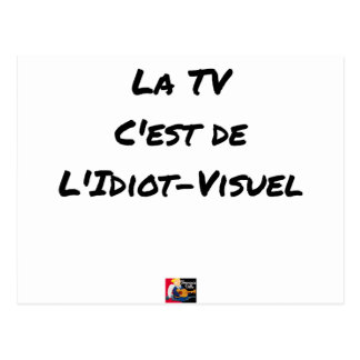 The TV, It IS IDIOT-VISUEL - Word games Postcard