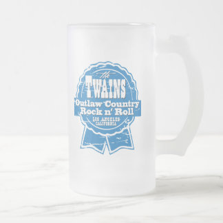 The TWAINS Beer Drinkin' Device! Frosted Glass Beer Mug
