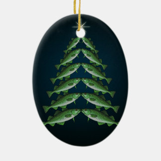 The Twelve Cods of Christmas oval ornament
