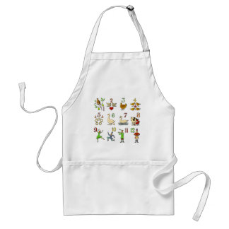 The Twelve Days of Christmas Standard Apron