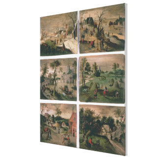 The Twelve Months of the Year: January, February, Stretched Canvas Prints