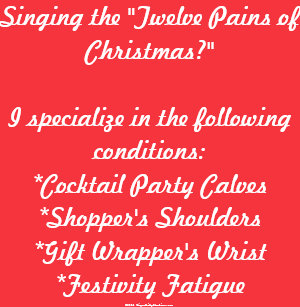 The Twelve Pains Of Christmas.Christmas Massage Clothing Apparel Shoes More Zazzle Ca