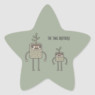 The Twig Brothers Star Sticker
