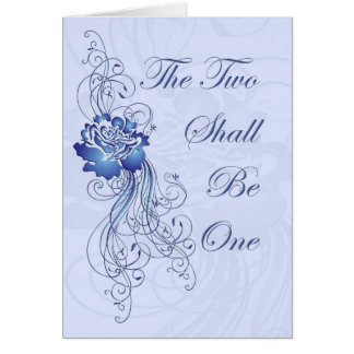 The Two Shall be One Wedding Invite Card Front
