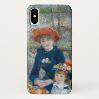 The Two Sisters on the Terrace by Renoir iPhone X Case