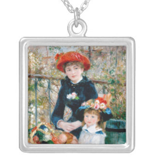 The Two Sisters, On the Terrace, Renoir Silver Plated Necklace