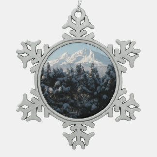 The Two Sisters Snowflake Pewter Christmas Ornament