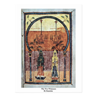The Two Witnesses By Emetrius Post Card