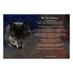The TWO WOLVES CHEROKEE TALE Art Poster