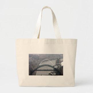 The Tyne Bridge and Millennium Bridge Jumbo Tote Bag