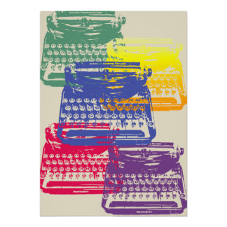 the typewriter - light poster