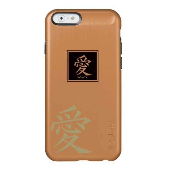"""The typography """" Love """" of kanji Incipio Feather® Shine iPhone 6 Case"""