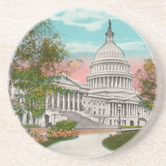 The U.S. Capitol Vintage Coaster