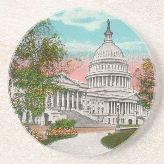 The U.S. Capitol Vintage Coaster