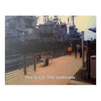 The U.S.S. The Sullivans (DD-537) Postcard