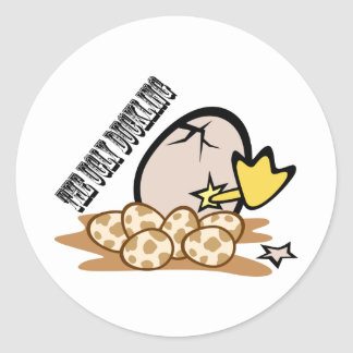 The Ugly Duckling Round Sticker