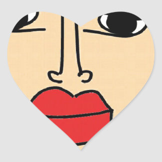 the ugly women heart sticker