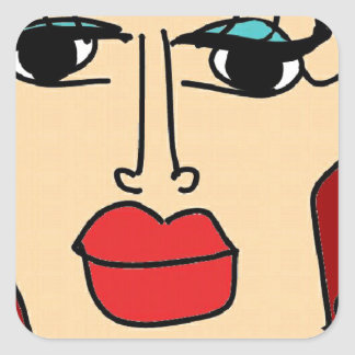 the ugly women square sticker
