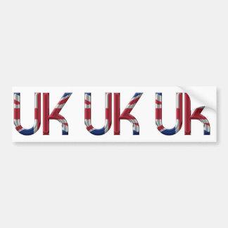 The UK Union Jack British Flag Typography Elegant Bumper Sticker
