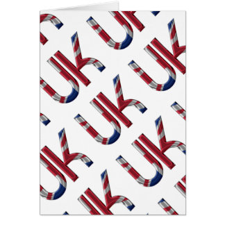 The UK Union Jack British Flag Typography Elegant Card