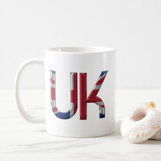 The UK Union Jack British Flag Typography Elegant Coffee Mug