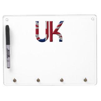The UK Union Jack British Flag Typography Elegant Dry-Erase Boards