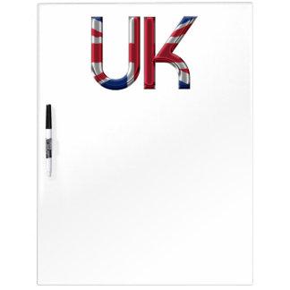The UK Union Jack British Flag Typography Elegant Dry-Erase Whiteboard