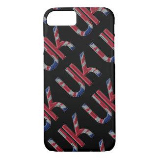 The UK Union Jack British Flag Typography Elegant iPhone 8/7 Case