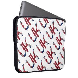 The UK Union Jack British Flag Typography Elegant Laptop Sleeve