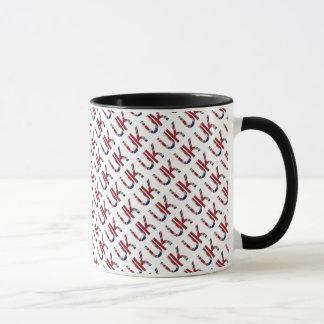 The UK Union Jack British Flag Typography Elegant Mug