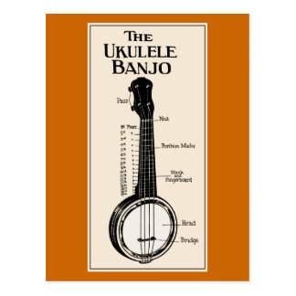 The Ukulele Banjo Postcard