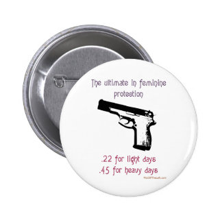 The Ultimate In Feminine Protection Button