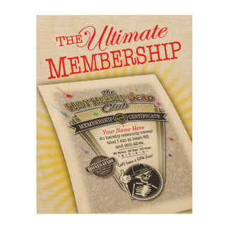The Ultimate Membership Plaque • Wood Wall Art