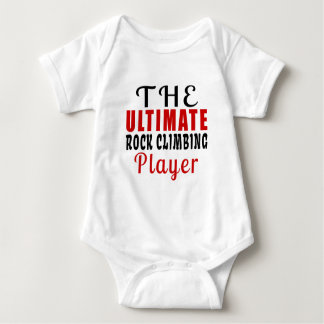 THE ULTIMATE ROCK CLIMBING FIGHTER BABY BODYSUIT