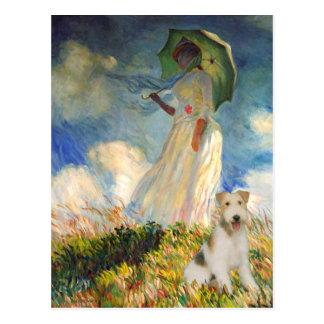 The Umbrella - Wire Fox Terrier (M) Postcard