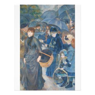 The Umbrellas by Pierre-Auguste Renoir (1881-86) Letterhead Template
