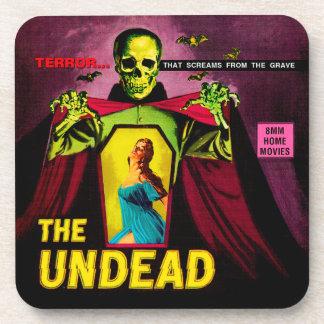 """The Undead"" 1950s Movie Film Box Coasters"