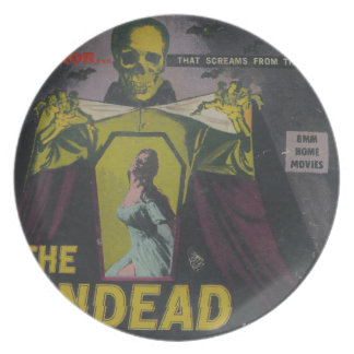 The Undead Zombie Movie Plate