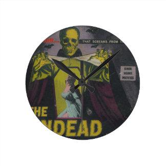 The Undead Zombie Movie Round Clock