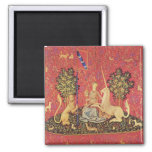 The Unicorn and Maiden Medieval Tapestry Image Magnets