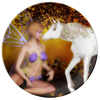 The Unicorn and the Fairy Plate