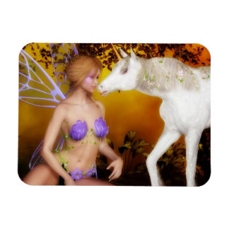 The Unicorn and the Fairy Rectangular Photo Magnet