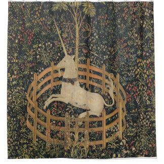 The Unicorn is Captured Shower Curtain