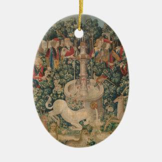 The Unicorn Is Found Ceramic Ornament